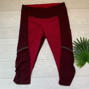 Lululemon Run for your Life crops. Size 6.
